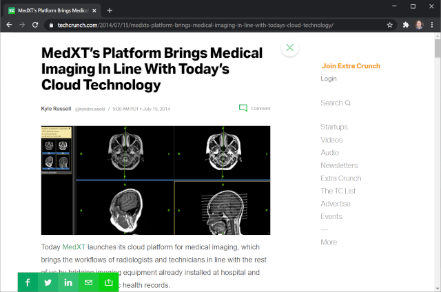 MedXT TechCrunch